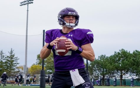 Peyton Ramsey practices. The graduate transfer will start under center versus Maryland.