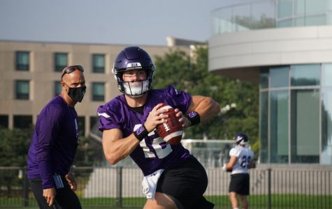 Peyton Ramsey during Northwestern's preseason camp. The Indiana graduate transfer will line up under center in the Wildcats' opener Saturday.