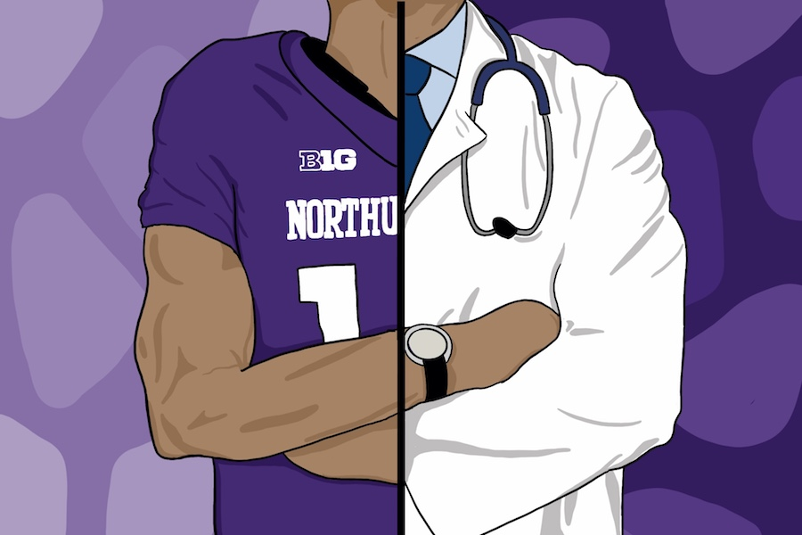 A number of Northwestern players on this year's roster are navigating two career paths: preparing for a football season and preparing to be a doctor.