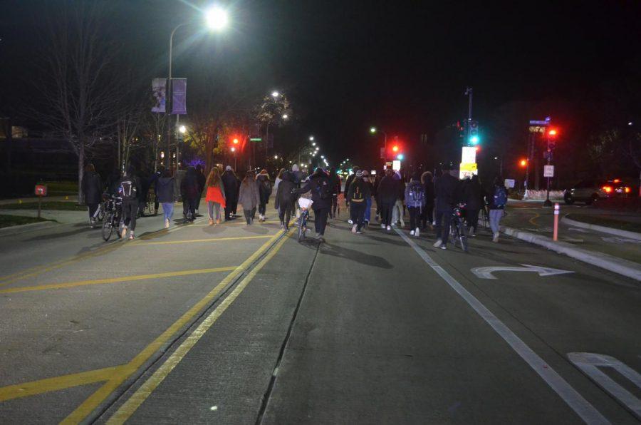 protest-meets-twerk session.   Photo: Binah Schatsky/The Daily Northwestern Photo caption: