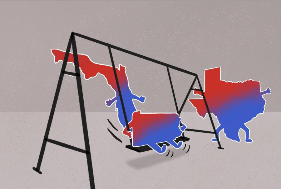Many Northwestern students will vote in key swing states this election cycle. As the polling margins between Trump and Biden in Texas, Florida and Pennsylvania narrow, some students are reflecting on what their vote means.