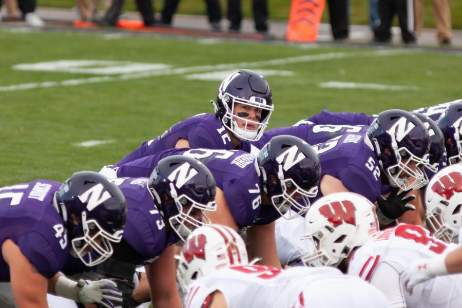 Peyton Ramsey lines up under center. The graduate quarterback has led Northwestern's turnaround on offense this season.
