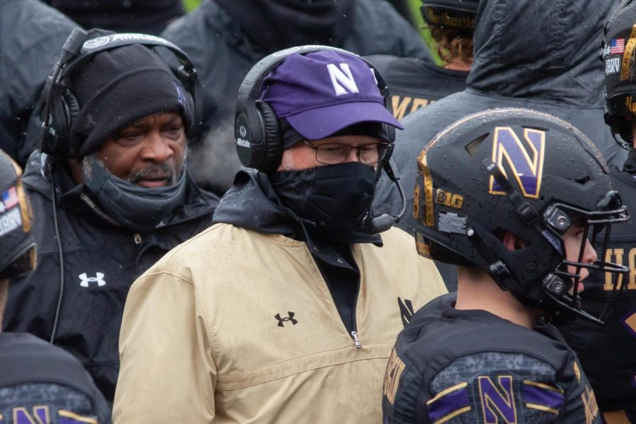 Northwestern defensive coordinator Mike Hankwitz
