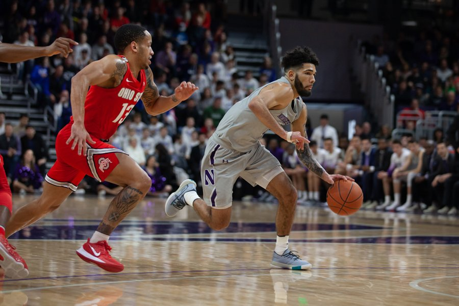 Boo Buie dribbles against Ohio State. The sophomore guard's 30 points against Michigan State were a career high.