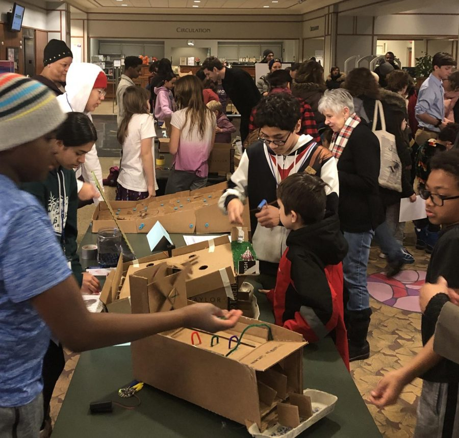 A scene from last year's Cardboard Carnival. This year's virtual program centers around building a marble run, and the deadline to submit a video is Mar. 6.