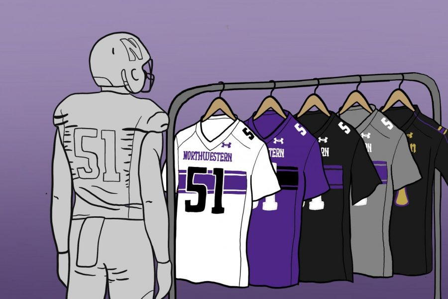 When it comes to uniforms, Northwestern has a host of helmet, jersey and pants options to mix and match.