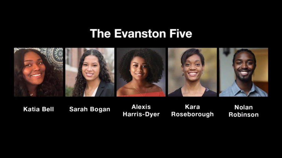 Five young Evanstonians discussed racism and MLK Day during a panel Monday night.