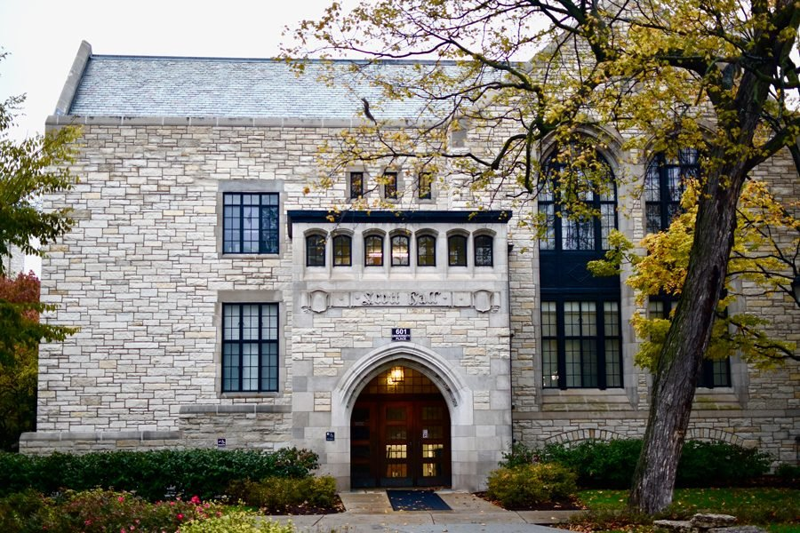 Scott Hall, 601 University Pl., home of Northwestern's Political Science Department. Members of the department, among others, joined other political scientists in calling for President Trump's removal from office.