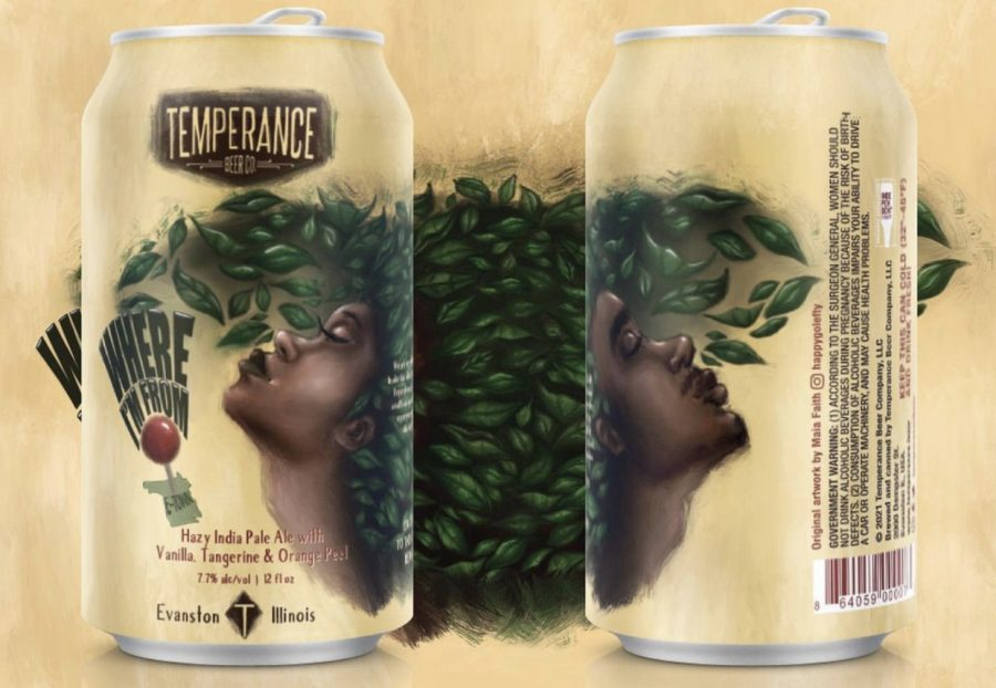 "The label of Temperance Beer Co.'s ""Where I'm From"" beer. Hadaway said the sketch embodies relief."