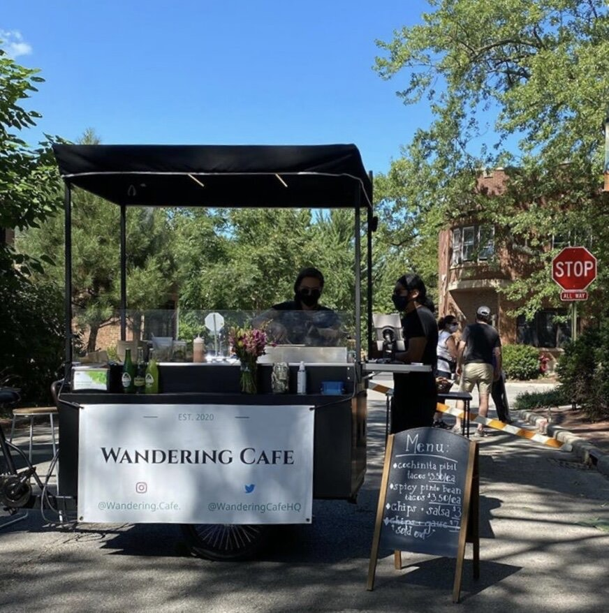 The Wandering Cafe cart is still serving during the pandemic. Customers can order meals throughout the week, then pick them up on Saturdays in front of Temperance Beer Co.