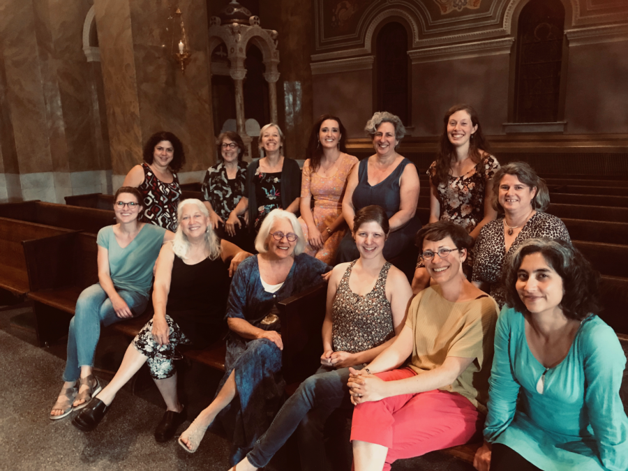 Shown above are the performers of the Newberry Consort's soon-to-be-released VESPERS CD. After a week of intensive practice, the collection was performed in Saint Clements Catholic Church. Soon, the whole performance will be available for streaming online.
