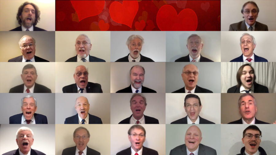 The New Tradition Chorus sings one of their Virtual Singing Valentines.