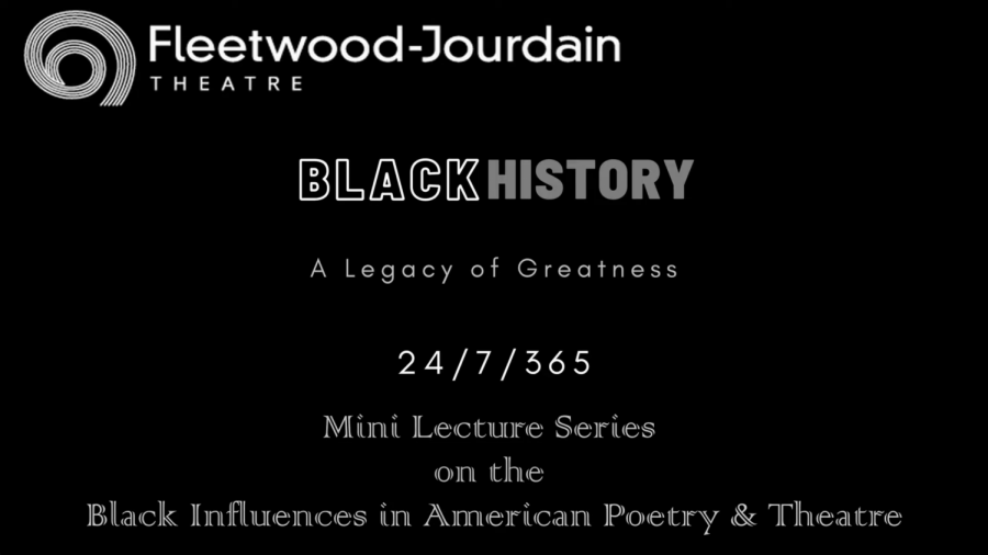One of the Fleetwood-Jourdain Theatre's lectures by Associate Artistic Director Bria Walker analyzing the life and work of playwright Ntozake Shange.