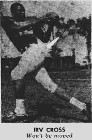 Irv Cross photographed for The Daily on October 9, 1959. Cross and No. 2 Northwestern edged Minnesota 6-0 the next day.