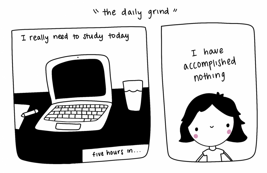 Meher's Cartoon: The Daily Grind