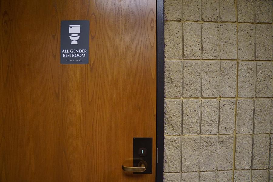 An all-gender bathroom in Norris University Center.