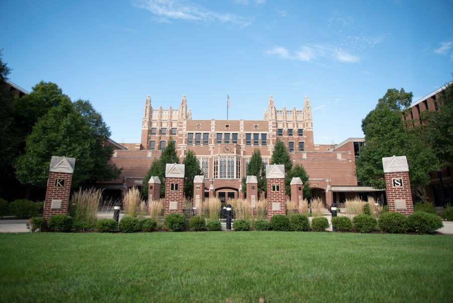 A picture of Evanston Township High School's exterior.
