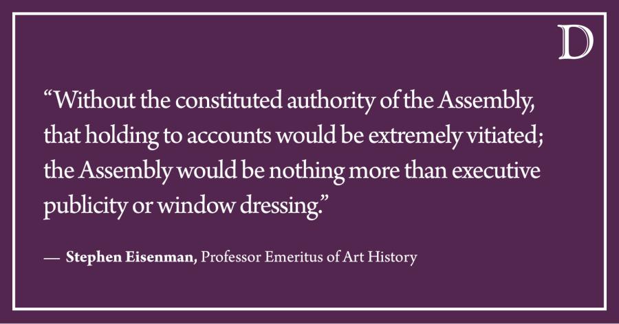 LTE: Preserve the Faculty Assembly's legislative power