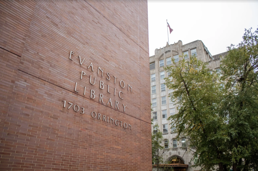 Exterior of the Evanston Public Library.