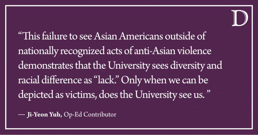 Yuh: On racism against Asians and Asian Americans at Northwestern